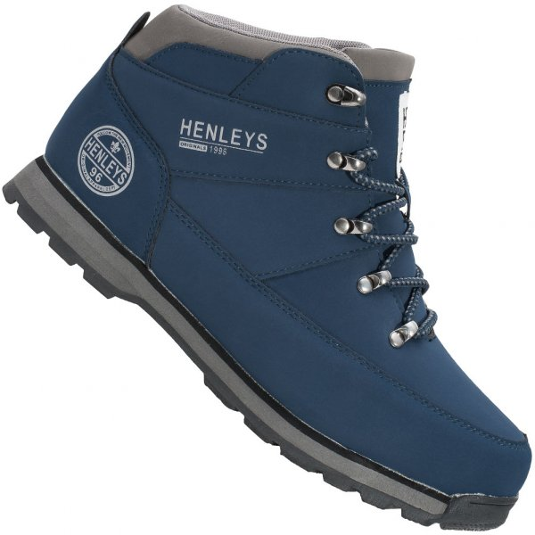 HENLEYS Oakland Boot Herren Winterschuhe HTG00239 navy