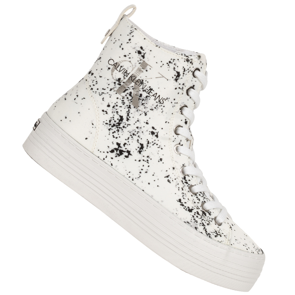Calvin Klein Jeans Zazah Damen Plateau Sneaker RE9792WHT