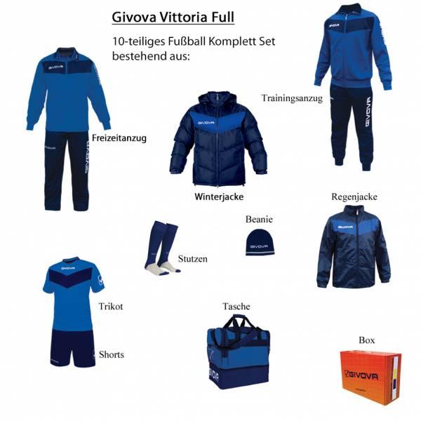 Givova Box Vittoria Full Fußball Set 10-tlg. blau/navy