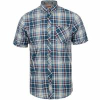 Tokyo Laundry Stafford Uomo Camicia a quadri 1H10586 Rivera Blue