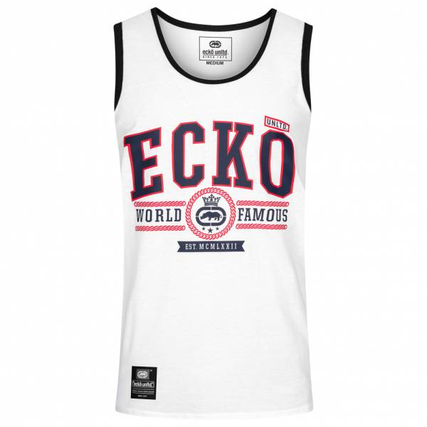 Ecko Unltd. Navigator Herren Tank Top Shirt ESK4492 Optic White