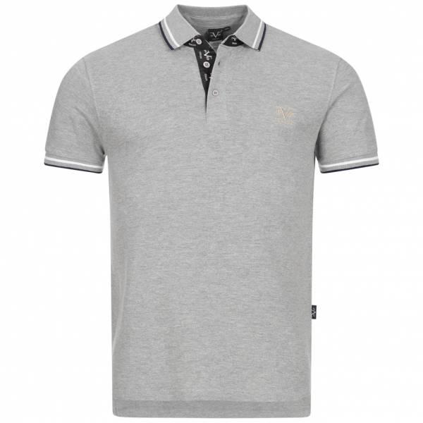 19V69 Versace 1969 Ricamo Retro Herren Freizeit Polo-Shirt VI20SS0006A grau