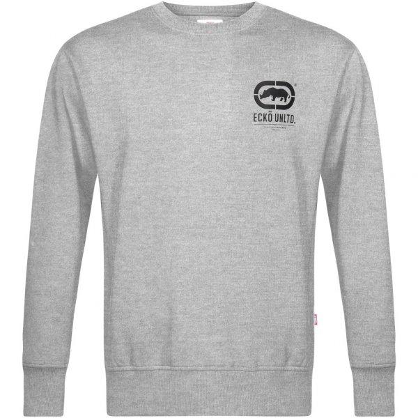 ECKO Unltd. Smart Herren Crew Sweatshirt ESK4163 Grey Marl