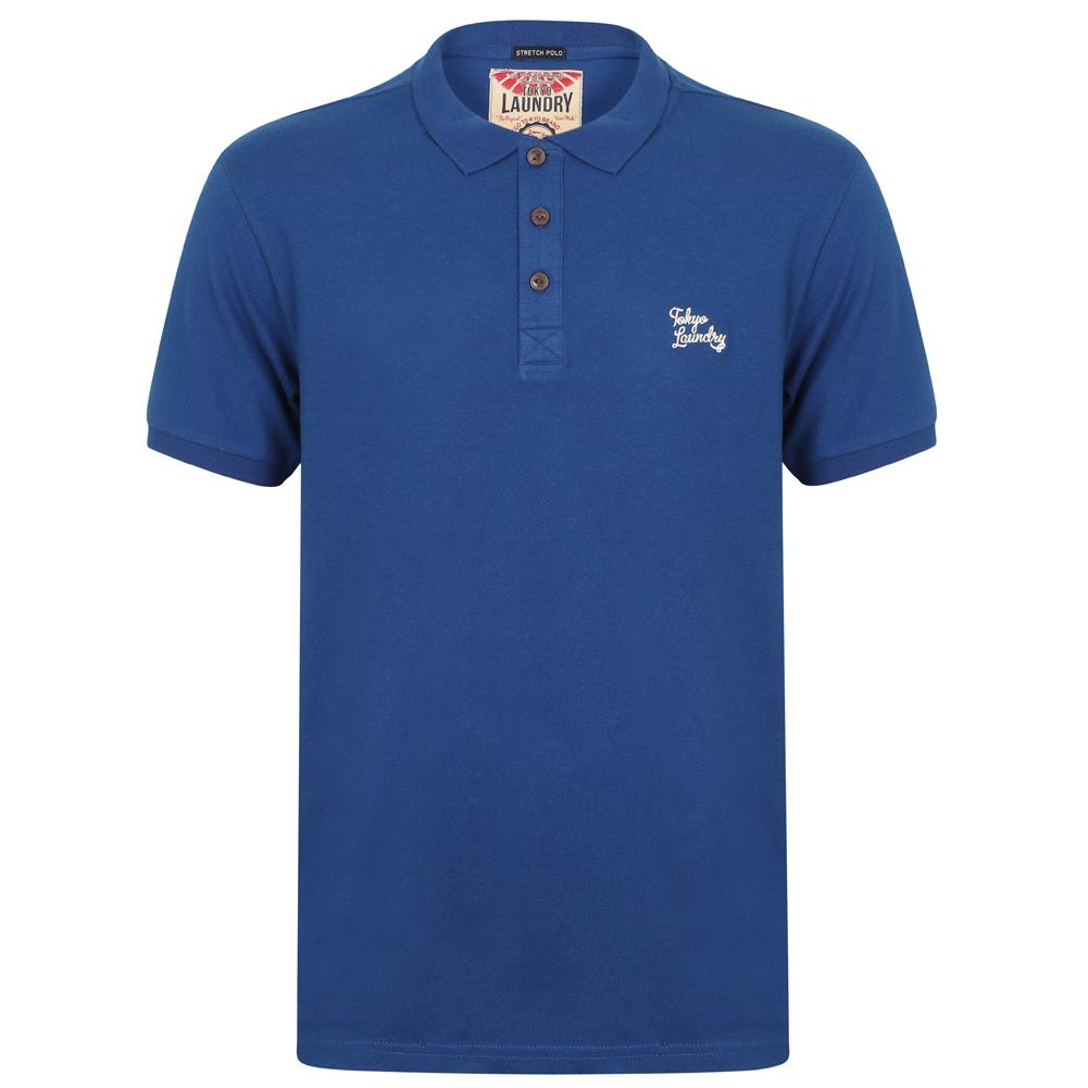 Polo pour homme Tokyo Laundry Roseville Cotton Pique 1X10922 Saphir