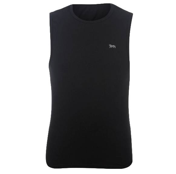 Lonsdale Hommes maillot noir Haut sans manches