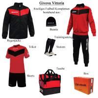 Givova Box Vittoria Fußball Set 8-tlg. rot/schwarz
