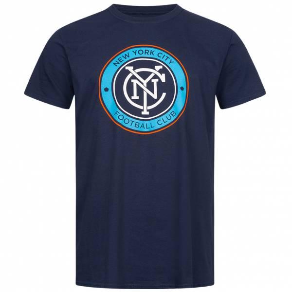 New York City FC Fanatics MLS Logo Hombre Camiseta 1600MNVY1ADNYC