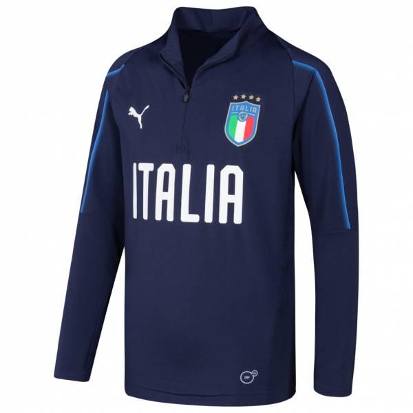 Italien FIGC PUMA 1/4-Zip Kinder Sweatshirt 753104-10