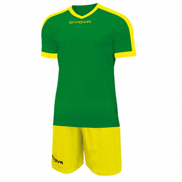 Givova Kit Revolution Voetbalshirt met short groen geel
