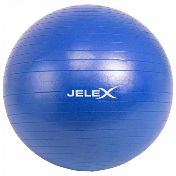 JELEX Ballon de yoga et fitness avec pompe 65cm bleu
