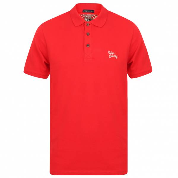 Tokyo Laundry Roseville Cotton Pique Herren Polo-Shirt 1X10922 Red