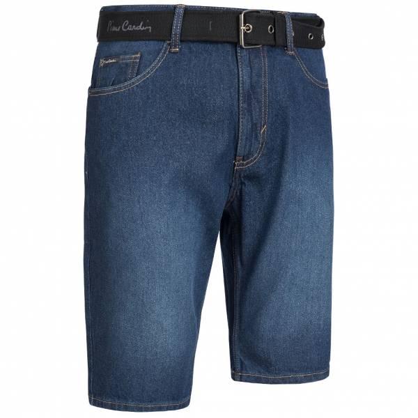 Pierre Cardin Herren Jeans Short mit Gürtel