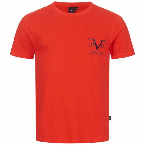 19V69 Versace 1969 Basic Big Logo Herren T-Shirt VI20SS0008A rot
