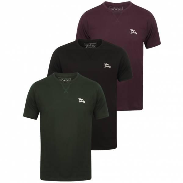 Tokyo Laundry Koppelo Herren 3er Pack T-Shirts 1Q11467A