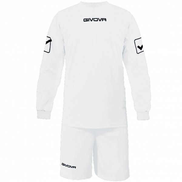 Givova Fußball Set Langarmtrikot mit Short Kit Givova weiß