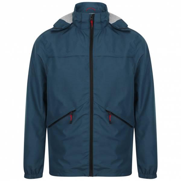 Tokyo Laundry Bevington Hooded Winbreaker Herren Jacke 1J10633 Denim Blue