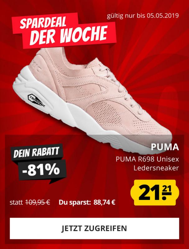 896dd35984b6d2 PUMA PUMA R698 Unisex Leder Sneaker nur 21