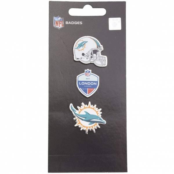Miami Dolphins NFL Metall Pin Anstecker 3er-Set BDNF3HELMD