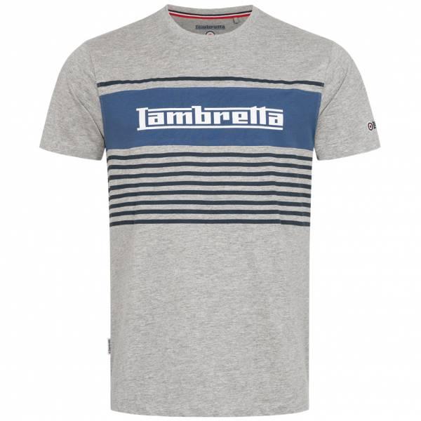 Lambretta Panel Stripe Herren T-Shirt SS7102-GREY MARL