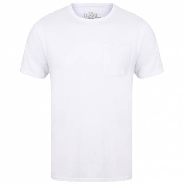 Tokyo Laundry Zac Crew Neck Pocket Mens T-Shirt 1C10666A Optic White