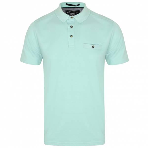 Kensington Eastside Landseer Textured Herren Polo-Shirt 1X10691 Turquoise