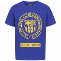 FC Barcelona Emblem Kinder T-Shirt Blue FCB-2-024