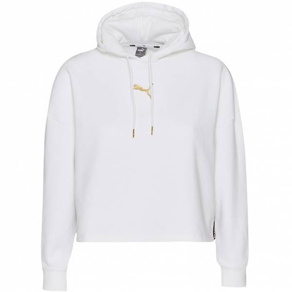 PUMA Metallic Nights Hoodie Damen Kapuzen Sweatshirt 587678-02