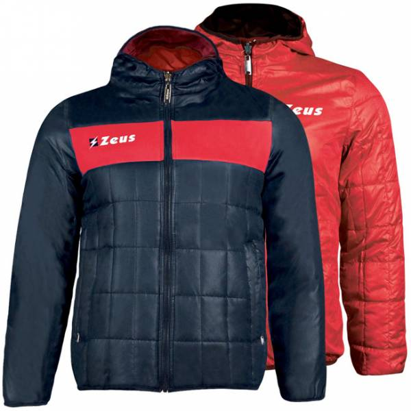 Zeus Giubbotto Apollo 2in1 Herren Wendejacke Navy Rot