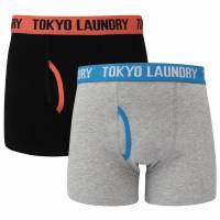 Tokyo Laundry Eastford 2er Pack Herren Boxershorts 1P10927 peach-moon
