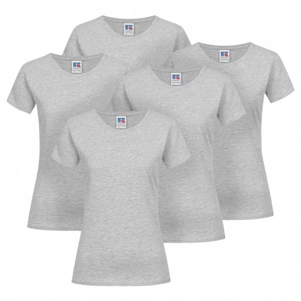 RUSSELL Slim Fit 5er-Pack Damen T-Shirt 0R155F0-Light-Oxford