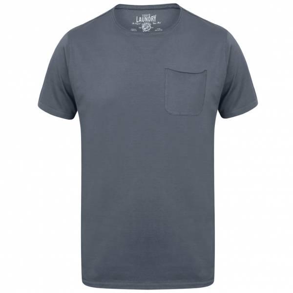 Tokyo Laundry Zac Crew Neck Pocket Herren T-Shirt 1C10666A Dusty Blue