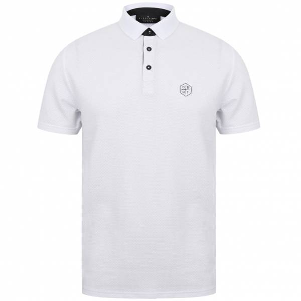 DNM Dissident Klaxon Herren Polo-Shirt 1X12429 Optic White