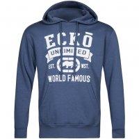 ECKO Unltd. Huracan Herren Kapuzen Sweatshirt Hoody ESK4168 Blue Indigo