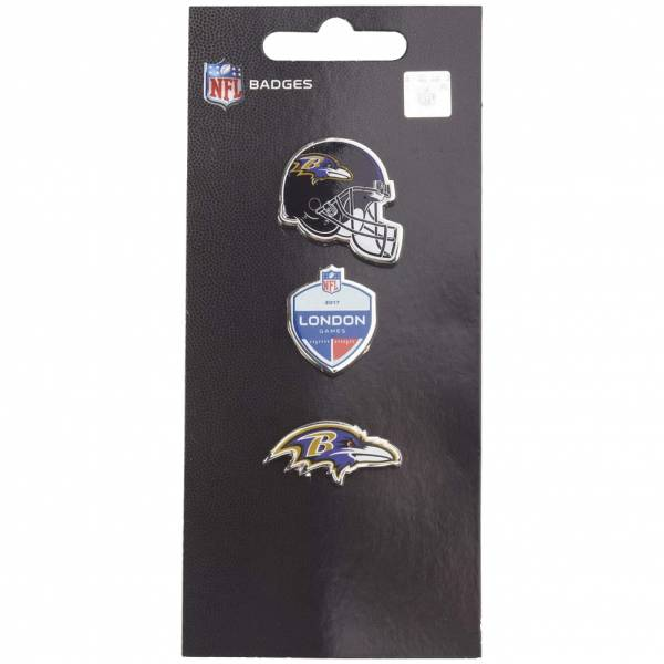Baltimore Ravens NFL Metall Pin Anstecker 3er-Set BDNF3HELBRV