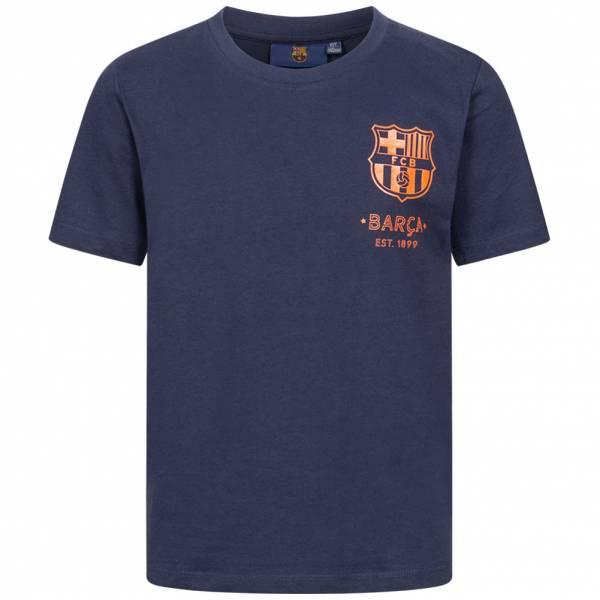 FC Barcelona Black Emblem Jungen T-Shirt FCB-3-410