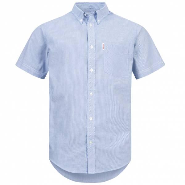 BRUTUS JEANS Overhemd met korte mouw 10006 Blauwe speldstreep