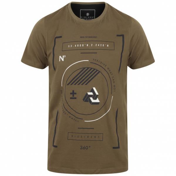DNM Dissident Circular Herren Motiv T-Shirt 1C10810 Khaki