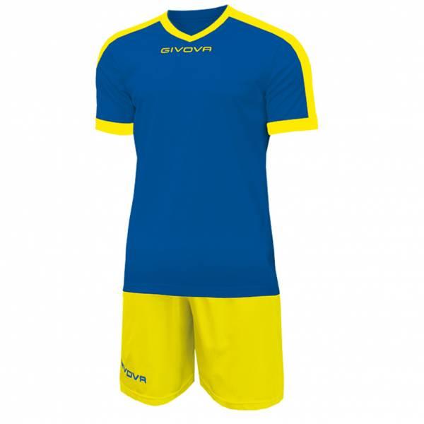 Givova Kit Revolution Fußball Trikot mit Short blau gelb