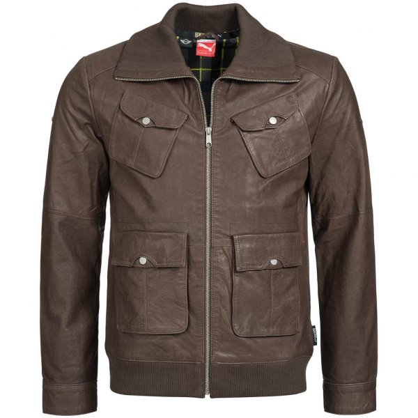 PUMA Mini Leather Jacket Herren Lederjacke 561497-01