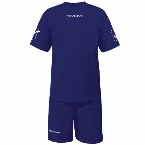 Givova Fußball Set Trikot mit Short Kit Givova navy