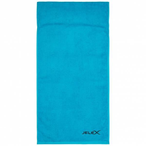 JELEX 100FIT Serviette de fitness avec une poche zippée turquoise