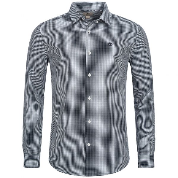 Timberland Rattle River Slim Fit Gingham Shirt Herren Hemd A1ALV-B68