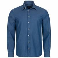 Hackett London Printed Indigo Hombre Camisa casual HM307396-000