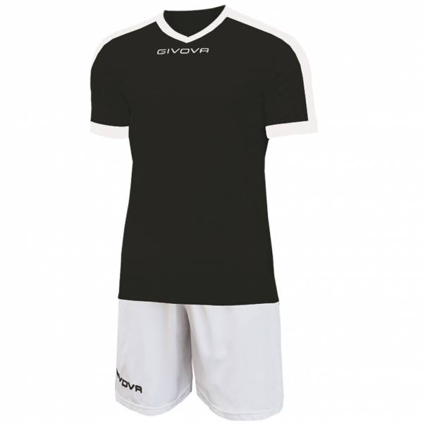Givova Kit Revolution football jersey with shorts white black