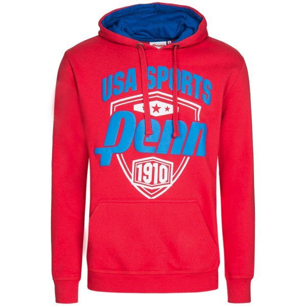 PENN US Sports Herren Hoody Kapuzen Sweatshirt PEN0497-RED