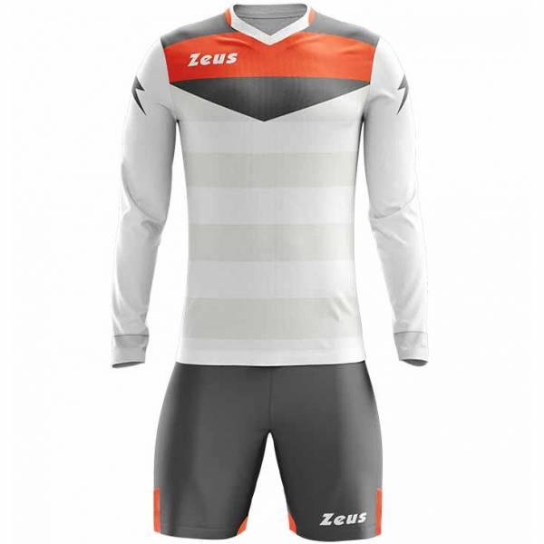 Zeus Argo Conjunto de portero Manga larga Camiseta con pantalones cortos blanco gris