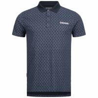 Lambretta Paisley Allover Print Herren Polo-Shirt SS6671-NAVY