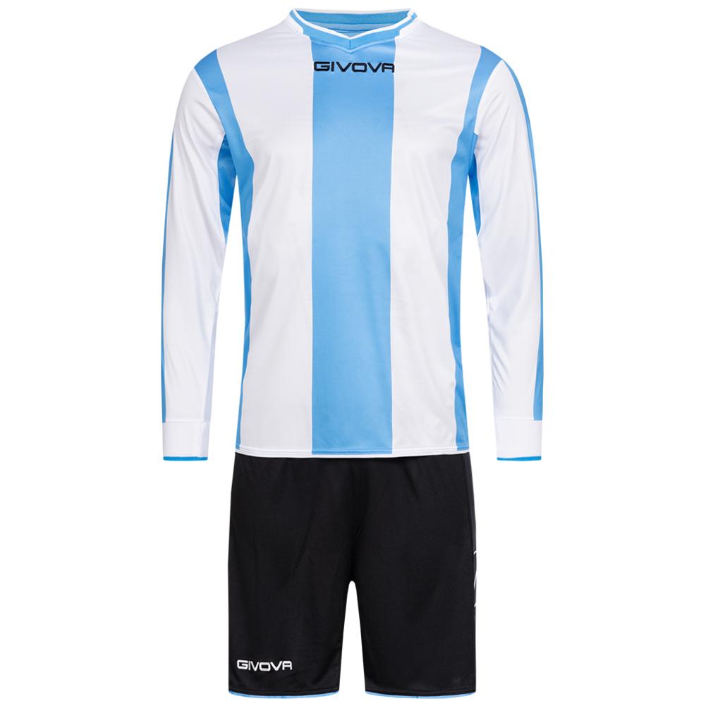 Givova Kit Line Fußball Set Langarm Trikot + Short KITC27 0503