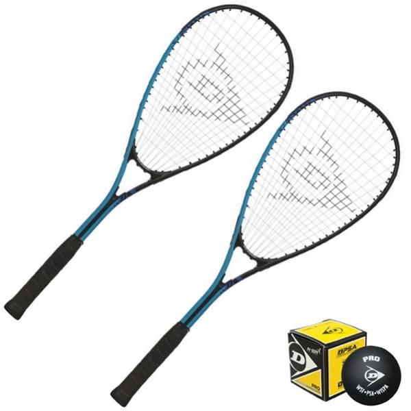 Dunlop Force Xtreme Titanium Squashschläger Set 2 Schläger + Ball 733056