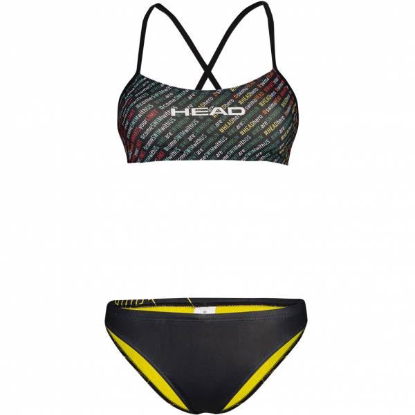 HEAD SWS Team Printed Low Leg Damen Bikini Set 452570-COL
